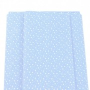 Patchwork Fabric  - Light Blue with White Stars