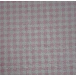 Tessuto Cotone a Quadri Piccoli Rosa