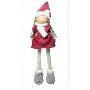 Winter Doll with Dark Pink Dress