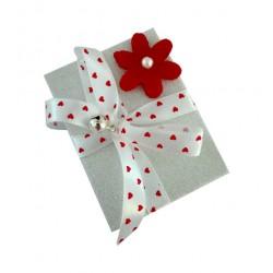Christmas Matchbox - Red Flower