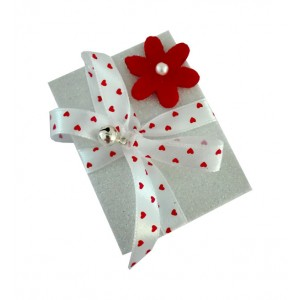 Christmas Matchbox - Red Flower