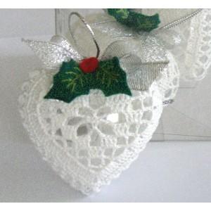 Corazon de Crochet - Navidad