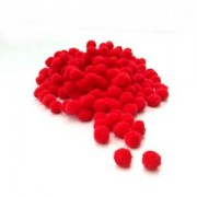 Red Pompon - Size 10 mm
